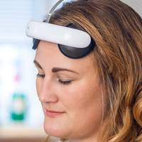 This simple headset from Flow is approved for treatment of depression - and I've tried it