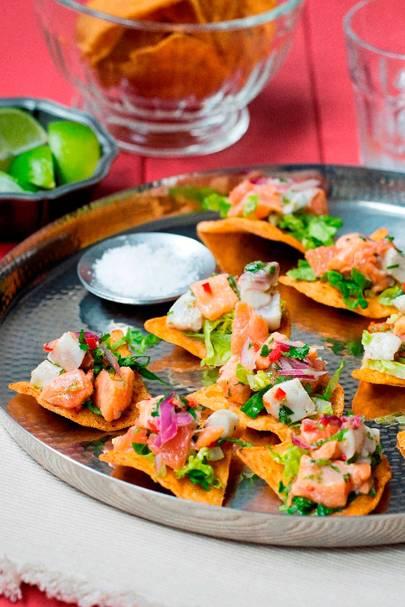 Salmon & Sea Bass Ceviche