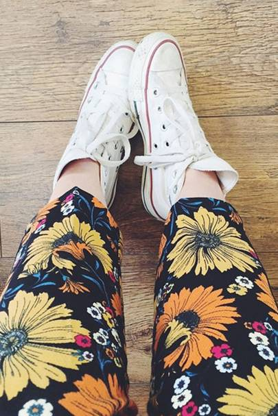 Do team your jazzy trousers with a pair of Converse