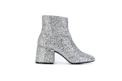 We adore the full-on glitter on these MM6 boots and the block heel keeps them functional.