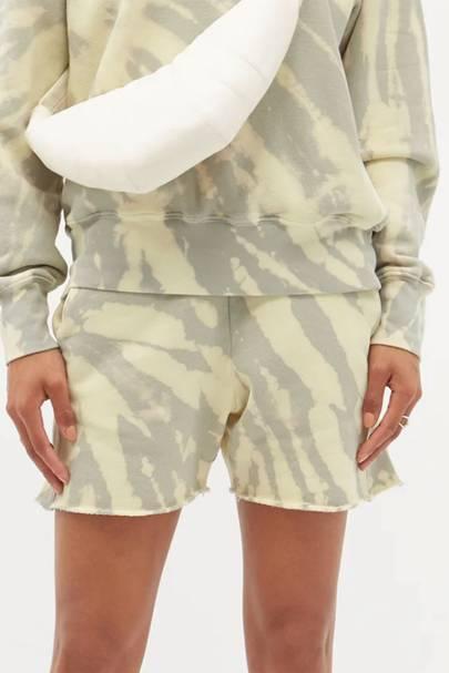 Brushed cotton sweat shorts