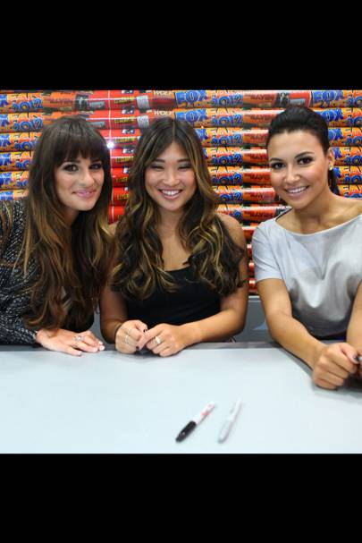 Lea Michele, Naya Rivera & Jenna Ushkowitz at Comic-Con 2012