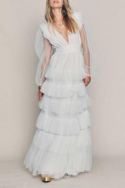 LONG-SLEEVED WEDDING DRESS: SHEER