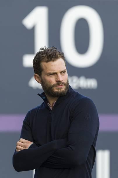 Jamie Dornan looks sexy when...