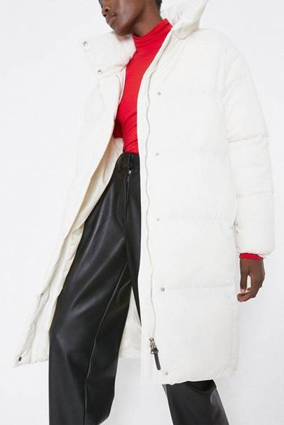 Cream duvet coat