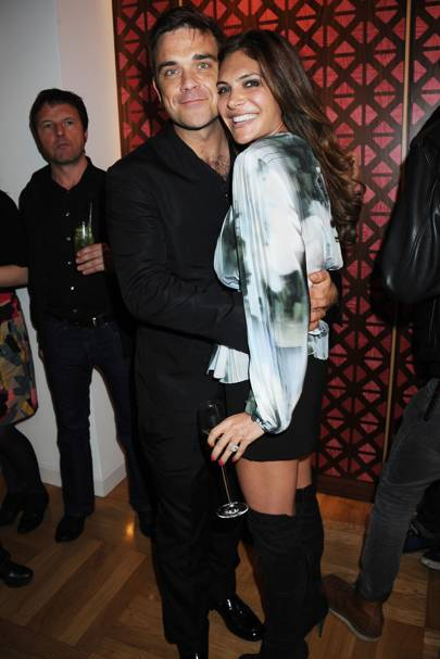 Robbie Williams and Ayda Fields