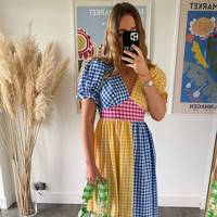 MOBLY THE LABEL - BLUE & YELLOW TILDA DRESS