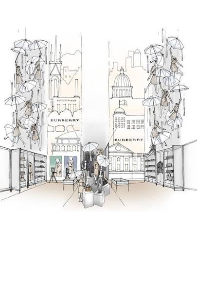 86f817a301 The City of Light is relishing in London Mania this autumn, all thanks to  Burberry. The heritage label has teamed up with iconic Paris super-store  Printemps ...