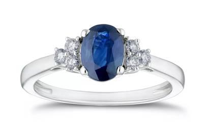 Victoria Beckham-Inspired Engagement Rings - Sapphire Stone