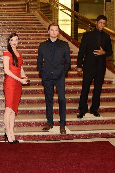 Sandra, Leo and Denzel Washington