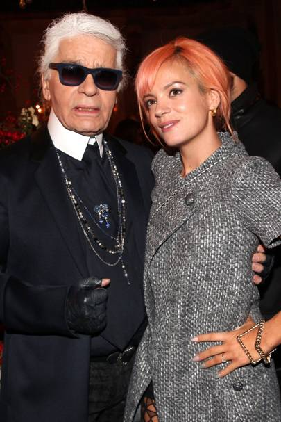 Karl Lagerfeld & Lily Allen