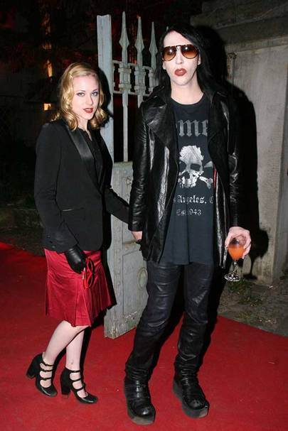 Evan Rachel Wood and Marilyn Manson