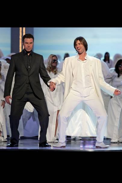 Jim Carrey and Will Ferrell do a little dance