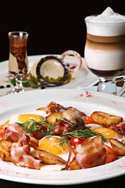 Grilled Bacon, Mushroom & Tomato