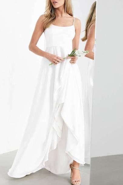 Best White Bridesmaid Dresses - Spaghetti Straps