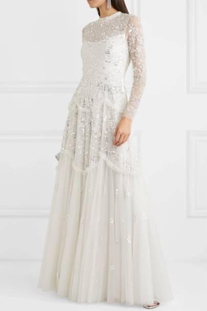 Long sleeve wedding dresses: Needle & Thread