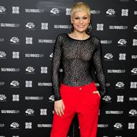 Jessie J switching on the Oxford Street Christmas Lights