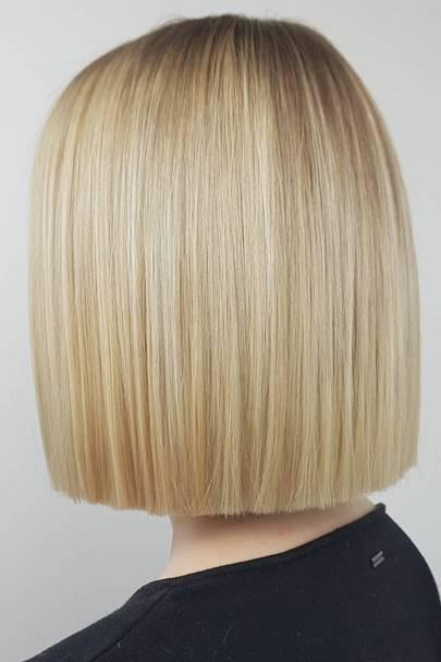 Classic blonde paper-cut bob