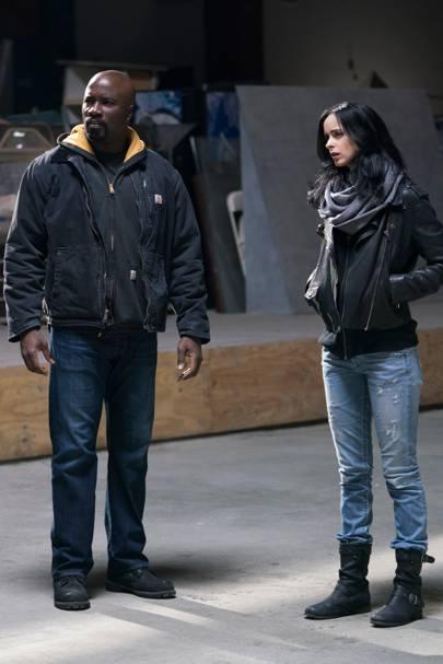 Jessica Jones and Luke Cage