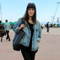 Laura, works for a fashion magazine, Primavera Festival