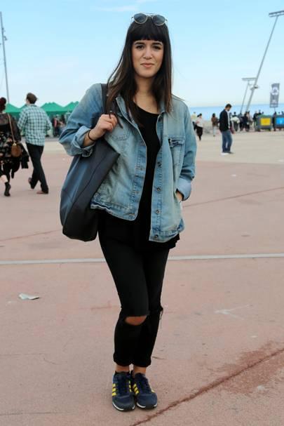 Laura, works for a fashion magazine, Primavera Festival