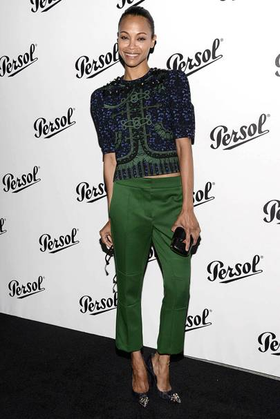 5006478212e6 We love a red carpet rogue, and none more than fashion risk taker Zoe  Saldana, who can wear everything from ruffles to bold colours to tricksy  trends ...