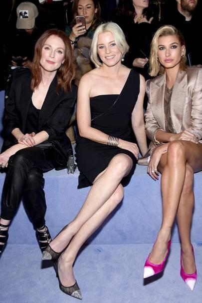 Julianne Moore, Elizabeth Banks, and Hailey Baldwin