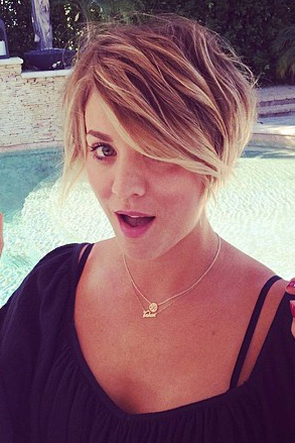 Kaley Cuoco Pixie Cut Hairstyle Photos Glamour Uk