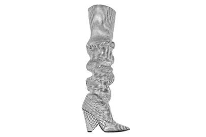 Ok, we could remortgage our house for the price of these, but no list of slouch boots would be right without Saint Laurent's crystal pair 😭😍