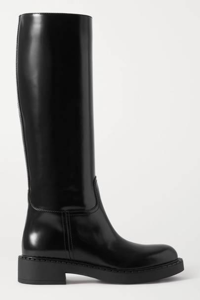 PRADA: Black Knee-High Boots