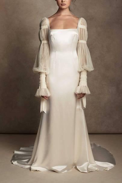 LONG-SLEEVED WEDDING DRESS: GATHERED SLEEVES