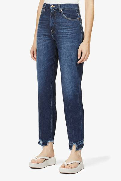 Best frayed hem mom jeans
