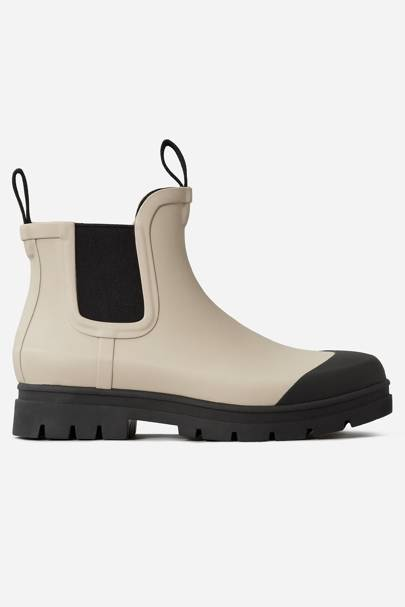 EVERLANE: Cream Ankle Boots