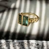 Narcissa Tourmaline Baguette Ring by Alkemeya