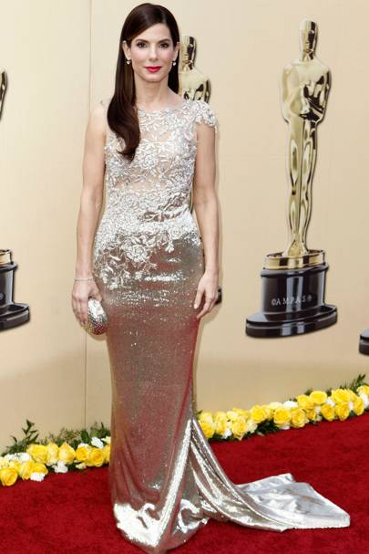 DON'T #9: Sandra Bullock in Marchesa at the Oscars, March