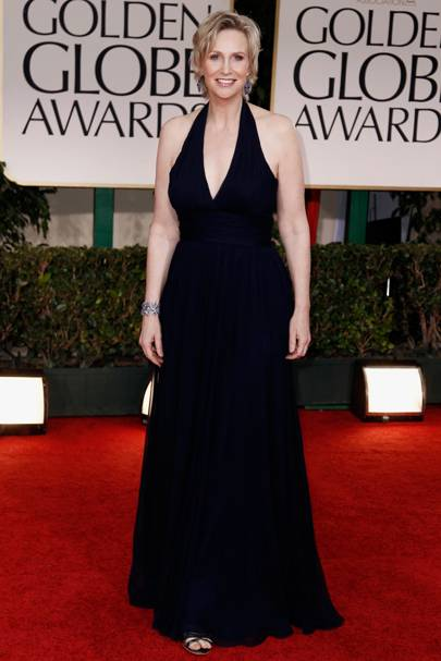 Jane Lynch at the Golden Globes 2012