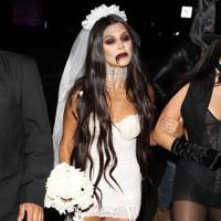 Kourtney Kardashian as a Zombie Bride