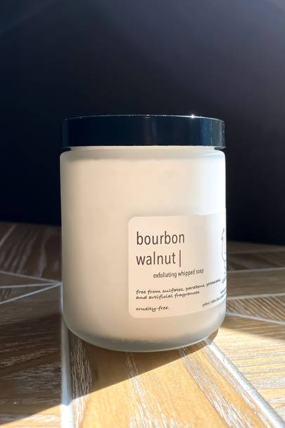 Bourbon Walnut Exfoliating Whipped Soap by Goldie B