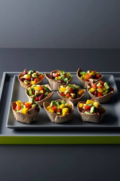 Caribbean Toastie Cups With Avacado, Mango & Mint