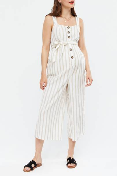Best Maternity Overalls - Striped Chic