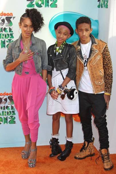 The Pinkett-Smiths at the Kids' Choice Awards 2012
