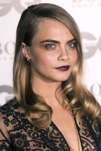 Hollywood retro hairstyles vintage celebrity hair styles modern day goddess cara delevingne also loving this style cara gave a fashion forward take wearing her locks sleek on top with just the ends tonged into pmusecretfo Image collections