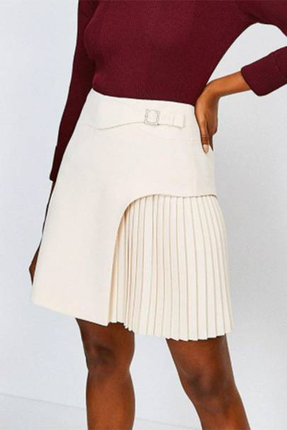 BEST PLEATED SKIRTS: BUCKLED