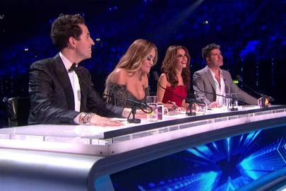 Cheryl and Simon play musical chairs