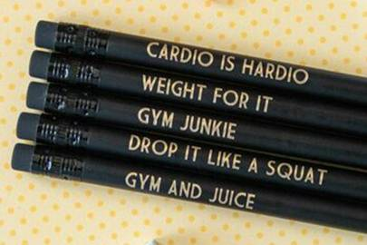 Gift for gym lovers: the fitness inspired stationery
