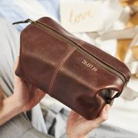 Anniversary Gift Ideas For Him: the personalised wash bag