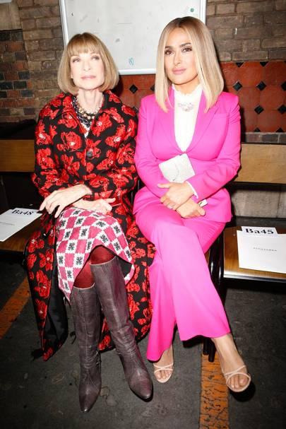 Anna Wintour and Salma Hayek