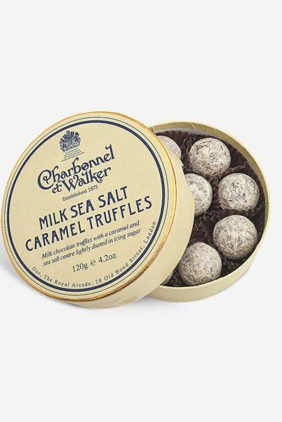The chocolate truffles