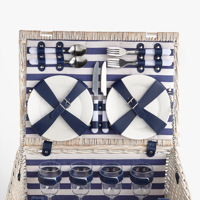 The wicker picnic basket