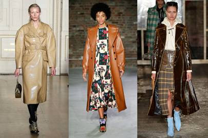 6. BROWN LEATHER COATS